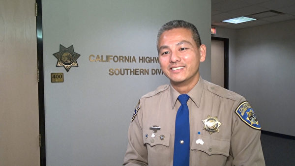 加州高速公路巡警陶定正。(薛文/大紀元)