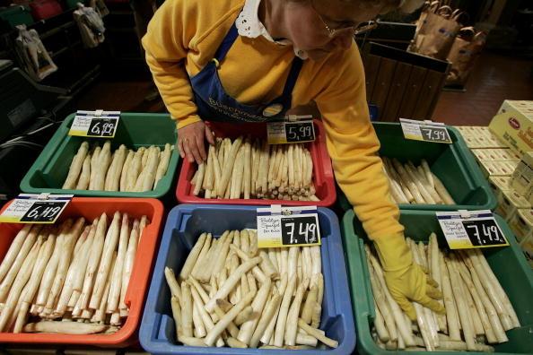 準備販售的蘆筍(Sean Gallup/Getty Images)