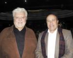 秘魯駐阿根廷大使Jose Luis Perez Sanchez Cerro先生(左)與哥倫比亞駐阿根廷大使Alejandro Navas Ramos先生於6月13日晚在阿根廷首都布宜諾斯艾利斯的Opera劇院觀看了神韻舞劇團的《西遊記》演出。(林南/大紀元)