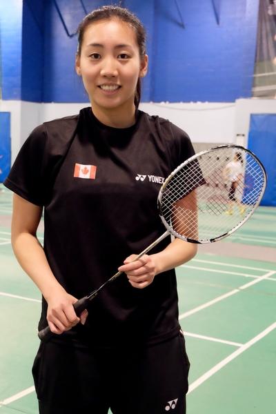 圖:華裔移民李文珊創造了好幾個第一,是加國歷史上最成功的羽毛球女運動員。(周月諦/大紀元)