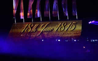 滑铁卢战役200周年纪念活动于6月18-20日在比利时滑铁卢举行。图为庆祝活动中的表演。(EMMANUEL DUNAND/AFP/Getty Images)
