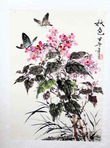 唯仁畫作《秋色》(曹鶯飛/大紀元)