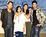 韓宜邦(左起)、林予晞、王思平、Darren。(台視提供)