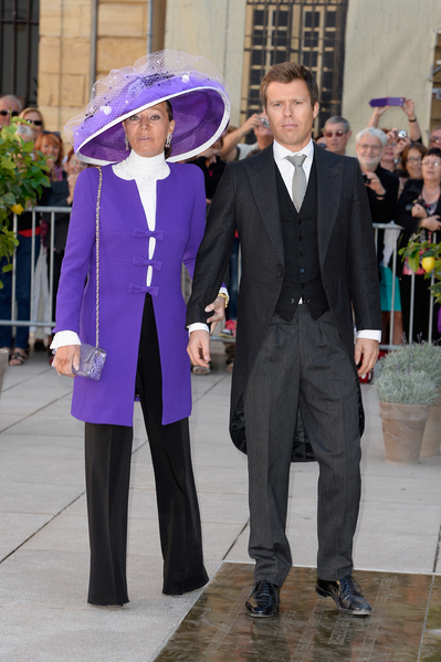 列支敦士登王子文策斯勞斯與母親。(Pascal Le Segretain/Getty Images)