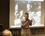 """今年是抗战胜利70周年,作家王丰出版新书""""蒋介石在淞沪战场:从忍辱到复仇"""",他表示,八年抗日战争,是蒋介石毕生最为关键重要的一段军政经历。没有这八年全民浴血抗日的艰苦奋斗,我们民族将陷于万劫不复之境。(锺元/大纪元)"""
