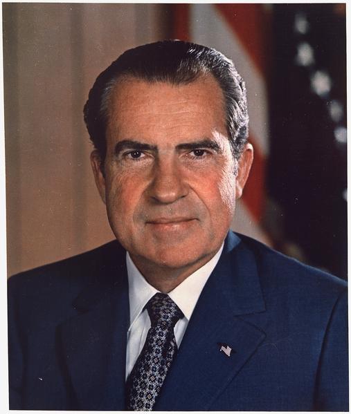 美國前總統尼克松。(維基百科公共領域)