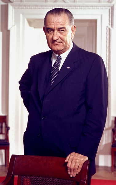 美國前總統林登‧約翰遜。(維基百科公共領域)