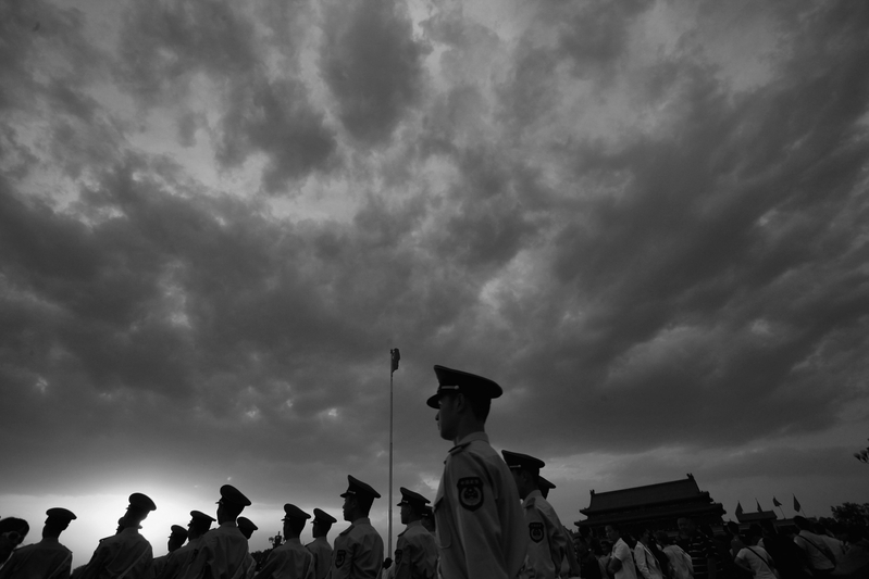 5年前,由江派前常委周永康掌控的武警部隊參與了其策動的北京「3.19政變」。習近平上任後,開始不斷清洗中共武警部隊,有十多名高級將領被調查。檔案圖片。(Feng Li/Getty Images)