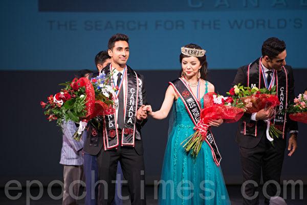 世界小姐加拿大區決賽(Miss World Canada)5月16日在溫哥華舉行,多倫多華裔女孩Anastasia Lin脫穎而出,榮獲冠軍。(景浩/大紀元)
