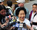 """陈方安生表示,眼见近这几年,香港""""一国两制、港人治港、高度自治""""遭削弱,法治、人权、自由受到前所未有的冲击,她强调,一日没有真普选,她都会上街游行继续争取。(孙青天/大纪元)"""