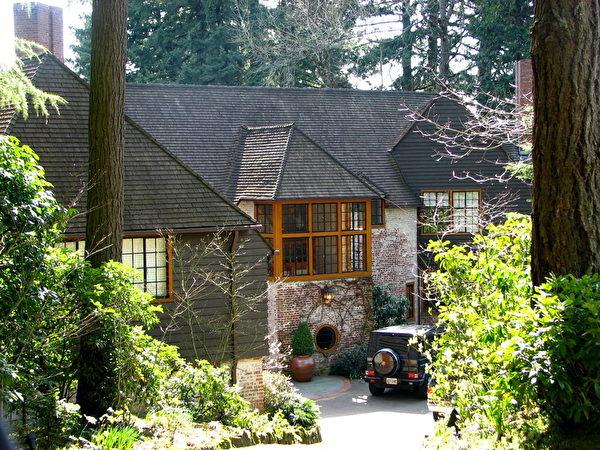 俄勒冈州波特兰1930年代的老房子。(维基百科公共领域)