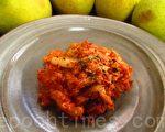韓式辣味泡菜拌魚卵(家和/大紀元)