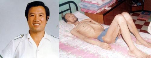 佳木斯鐵路分局官員馬學俊被迫害前後的照片對比。(明慧網)