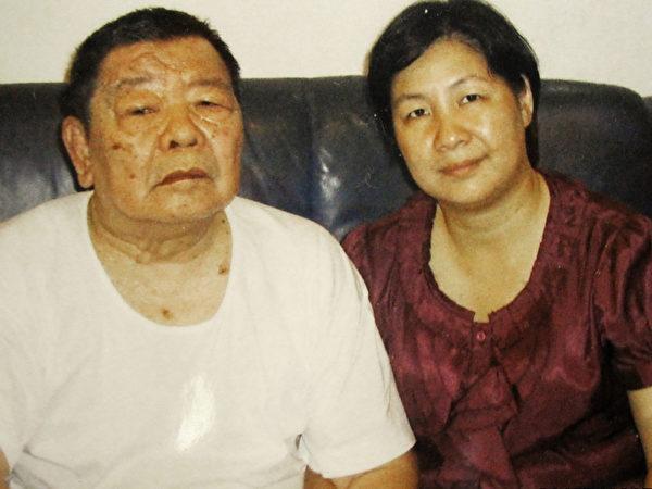 朱洛新与父亲的合照。(朱洛新提供)