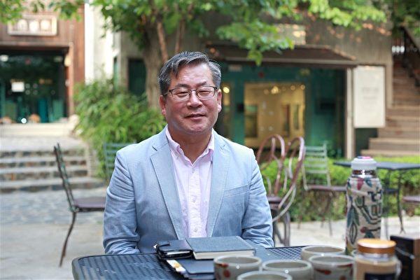 """韩国""""玄米里胚芽""""品牌总经销张东值董事长。(全宇/大纪元)"""