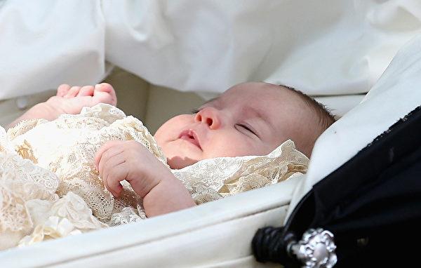 7月5日,英格蘭,英國王室新成員夏洛特小公主。(Chris Jackson - WPA Pool/Getty Images)