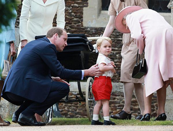 7月5日,英格蘭,夏洛特的哥哥喬治小王子。(Matt Dunham - WPA Pool/Getty Images)