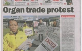 澳洲媒體頭版報導大陸控江潮與中共活摘罪