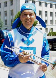 美国纽约天国乐团负责人之一梁先生(Tom Liang)。(李莎/大纪元)