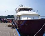 凤鼻头渔港至小琉球大福渔港航线开航,大大缩短旅游的交通及排队候船时间。(高雄市政府海洋局提供)