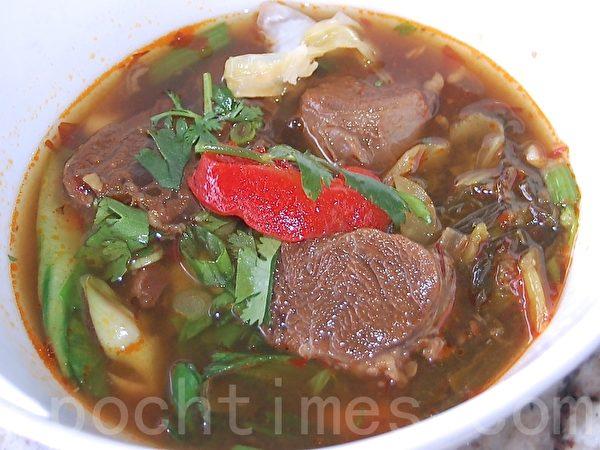 牛肉湯麵。(攝影:安吉/大紀元)