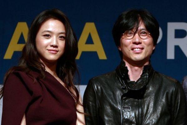 金泰勇汤唯夫妇。(Chung Sung-Jun/Getty Images)