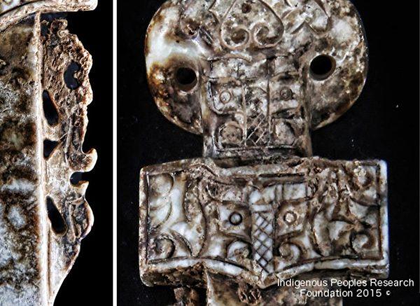 左:剑背龙的特写;右:饕餮纹特写。(原住民研究基金会提供)