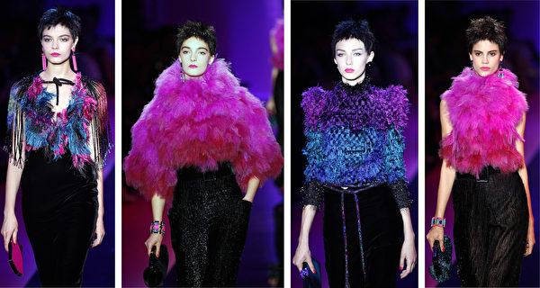2015/2016巴黎秋冬高级定制时装周一览之阿玛尼(Armani Privé)(大纪元合成/Getty Images)