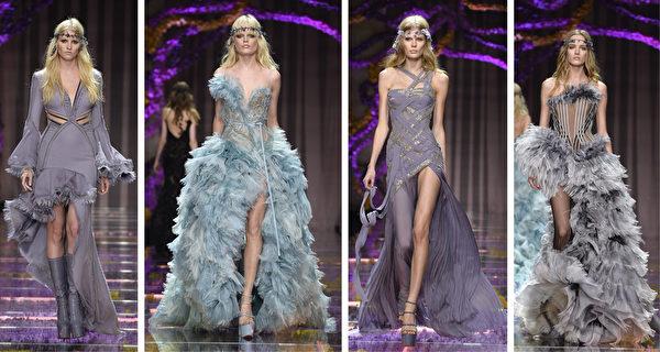2015/2016巴黎秋冬高级定制时装周一览之范思哲(Atelier Versace)(大纪元合成/Getty Images)