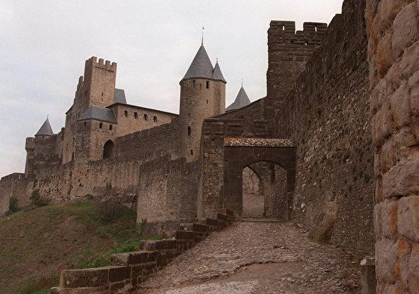世界遗产法国中世纪卡尔卡松城堡。(JEAN-LOUP GAUTREAU/AFP)