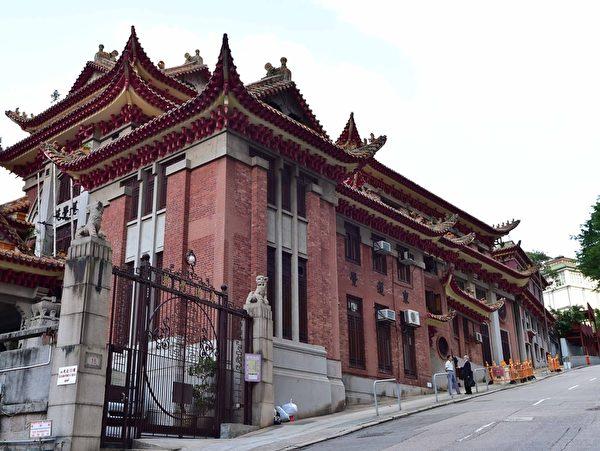 跑馬地山光道上的東蓮覺苑(郭威利/大紀元)