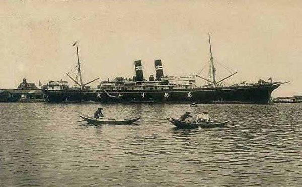 基隆港(1916.4.19下午 张遵旭搭乘湖北丸离开台湾,返回福建)(图片提供:tony)