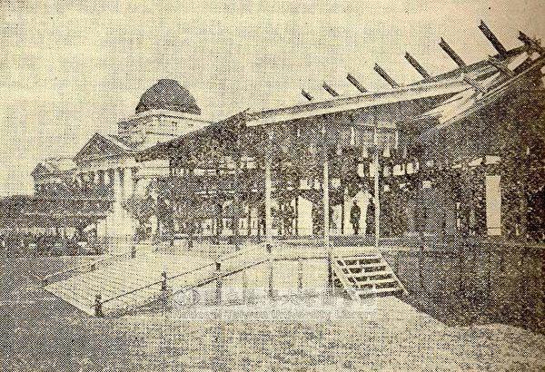 台北新公园观劝业会会议仪式,日本闲院宫殿下及安东贞美总督致词(1916.4.18)。(图片提供:tony)