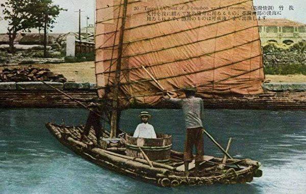 伐筏。安平当地的水上交通工具。 (图片提供:tony)