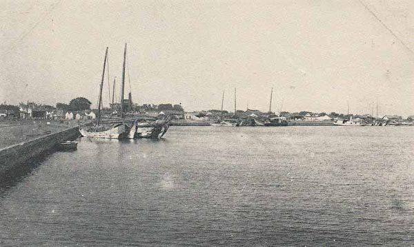 安平码头(1916.4.14下午 张遵旭游览台南安平)。 (图片提供:tony)