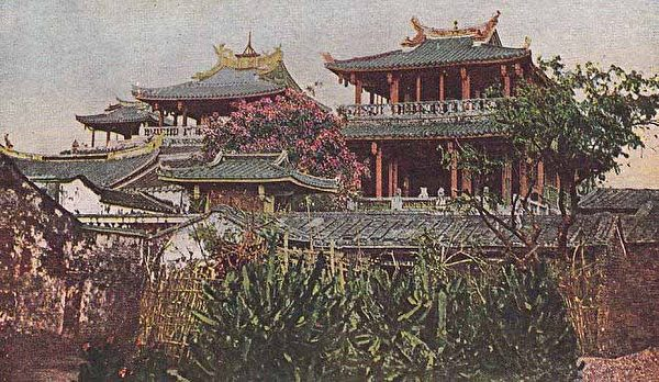 赤嵌楼(1916.4.14下午 张遵旭参观赤嵌楼)。 (图片提供:tony)