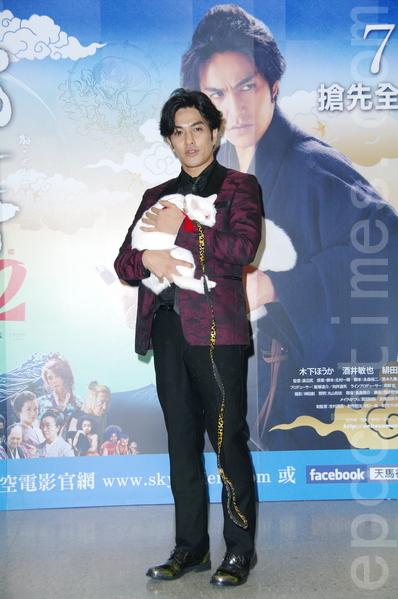 電影《貓侍 電影版2》演員北村一輝於2015年7月24日在台北出席訪台記者會。(黃宗茂/大紀元)