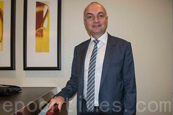 IMEC總裁Luc Van Den Hove。(瑞晨/大紀元)