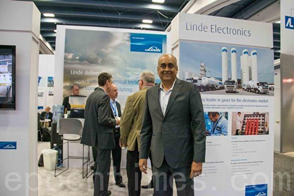 Linde Electronis的全球市場負責人Dr.Anish Tolia。(瑞晨/大紀元)