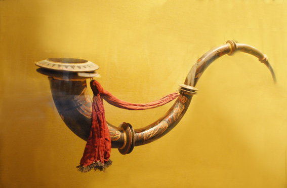 纽约大都会博物馆收藏的世界民族古乐器  (摄影:里娜/大纪元)
