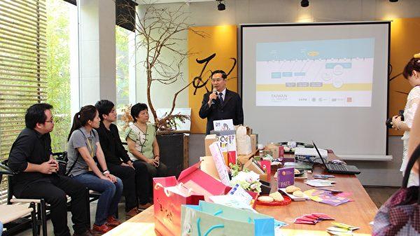 市長涂醒哲要請「OPTOGO」這群台灣青年把嘉義帶到世界,讓世界了解嘉義,了解嘉義的美好。(李擷瓔/大紀元)