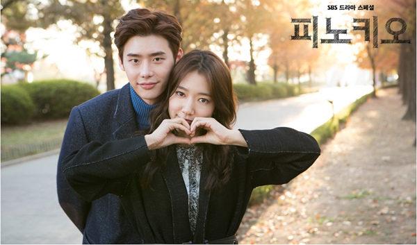 李钟硕(左)与朴信惠主演韩剧《匹诺曹》(又名《皮诺丘》)。(Fanily分享你提供)