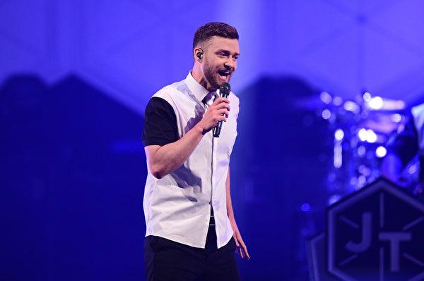 美国流行歌手贾斯汀‧提姆布莱克(Justin Timberlake)。(Stephen Lovekin/Getty Images for M2M Construction)