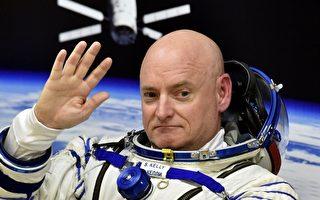 現年51歲的凱利在國際空間站不定期通過社交賬號,發送其在太空中拍攝的照片,擁有眾多粉絲。(KIRILL KUDRYAVTSEV/AFP/Getty Images)