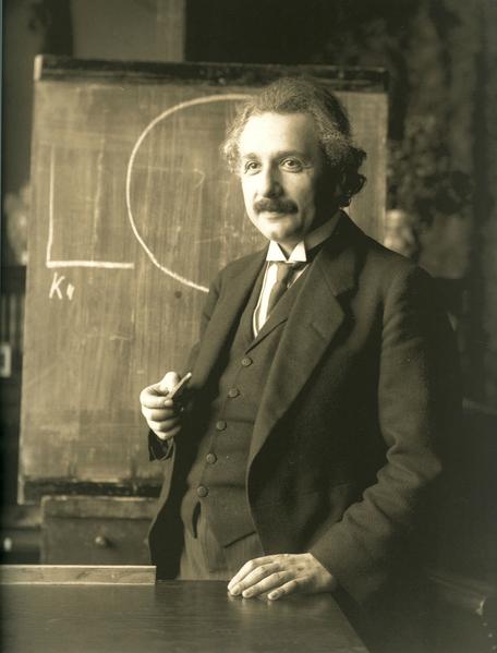 1921年的爱因斯坦。(公共领域)