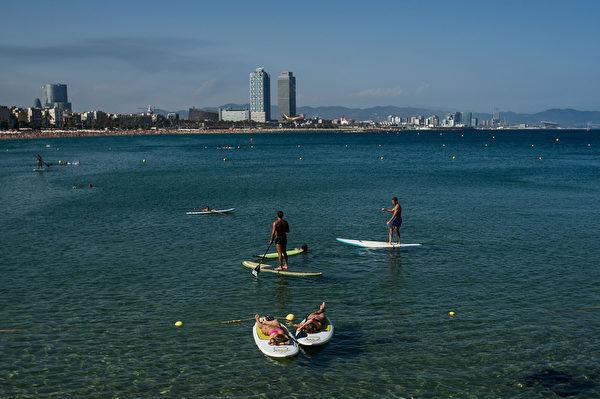 西班牙巴塞罗那海滩(David Ramos/Getty Images)