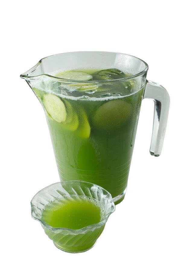 """所有在""""食客""""用餐的客人都可获赠一杯清凉解暑的黄瓜蜂蜜汁。(张学慧/大纪元)"""