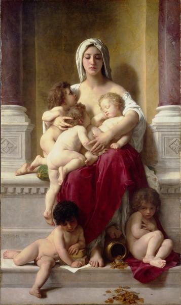 威廉‧阿道夫‧布格罗,《仁慈》,1878年作。(Art Renewal Center提供)