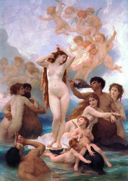 威廉‧阿道夫‧布格羅,《維納斯的誕生》,1879年作。(Art Renewal Center提供)