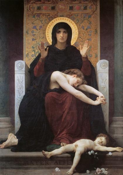 威廉‧阿道夫‧布格罗,《圣母、圣子与天使》,1875年作。(Art Renewal Center提供)